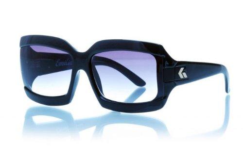 Gatorz Emilia - Black Frame, Gray Fade Lens Sunglasses EMIBLK01F_BK ()