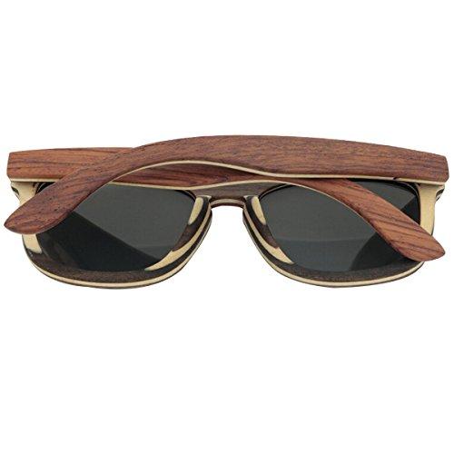 Recubrimiento Gafas De Gafas Walnut Vintage Ebony Bambú Artesanal Sol HAOYUXIANG De Madera Sol Polarizadas EqgwBf