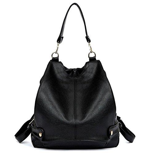 MAINLYCOR CHB880413C2 Fashionable PU Leather Korean Style Women's Handbag,Bucket-Type (Kathy Van Zeeland Back Zip Satchel)
