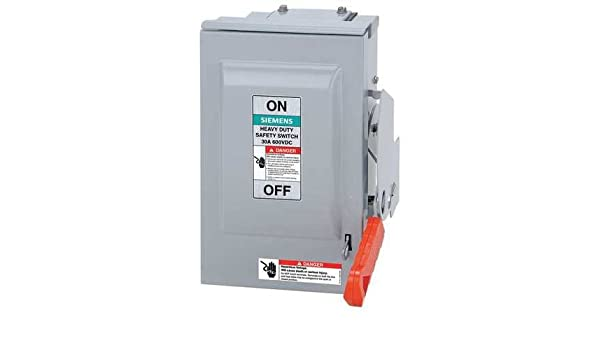 Siemens HNF362RPV 60 Amp 600 Volt Non-Fusible AC//DC Solar PV Outdoor Safety Switch