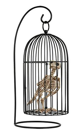 Raven Bird Halloween Costume (Crazy Bonez Skeleton Crow in Cage)