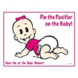Pin the Pacifier on the Baby Caucasian Girl Baby Shower Game