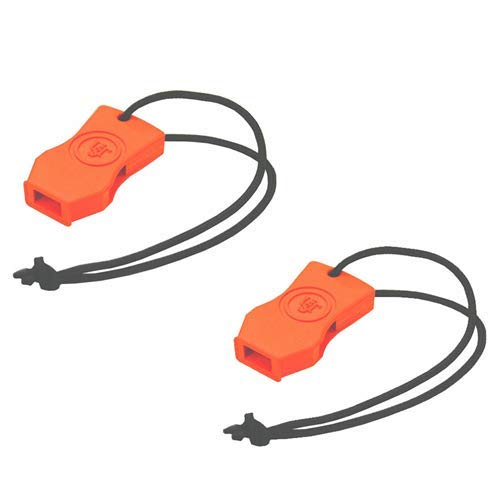 Ultimate Survival Technologies JetScream Micro Whistle Orange Signal (2-Pack) ()