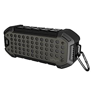 VAVA 24 Hours IPX6 Waterproof Bluetooth Speakers Outdoor Rugged Wireless Portable Speaker Voom 23 (Water Resistant, Loud Volume with Bass for Camping, Beach, Sports, Pool Party, Shower)