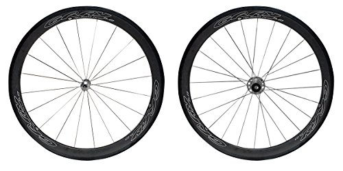 Gray 50mm Tubular Carbon Wheel Set for 10/11-Speed SRAM/Shimano