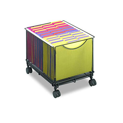 Cube Onyx Black (DK Furniture Onyx Mesh Rolling File Cube, Letter Size, Black)