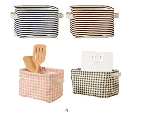 Mini cesta de almacenamiento plegable cuadrada para juguetes de bebé, maquillaje, libros, estantes y escritorios, juego de...