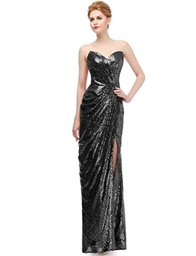 JYDress Women's Sweetheart Strapless Sequins Party Prom Evening Dresses