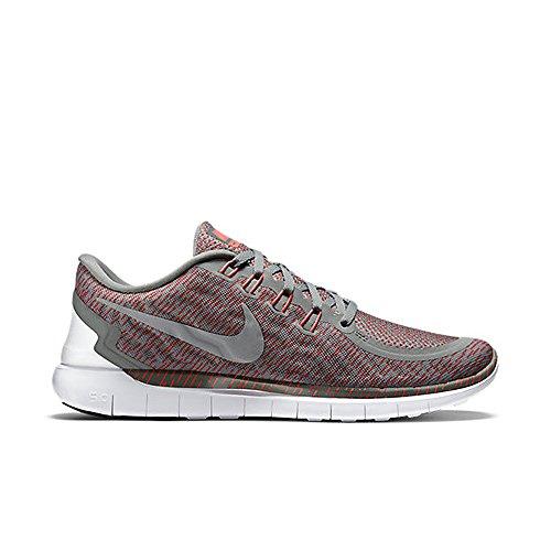 Nike Mens Free 5.0 Print Running Shoe (10.5 D(M) US, TMBLD GRY/RFLCT SLVR- BRGHT CRM)