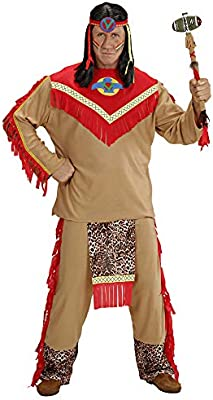 WIDMANN Widman - Disfraz de indio del salvaje oeste para hombre ...