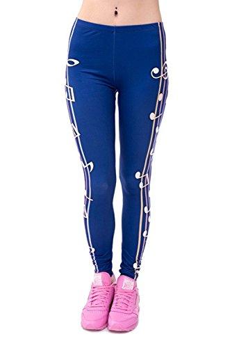 Minetom Cintura Elásticos Yoga Sport Pantalones Deportivas de Alta Cintura Impreso Stretch Fitness Leggings Multicolor 06