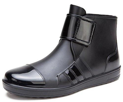 Adult Men's Antiskid Short Ankle High Rubber Shoes Rain Boots
