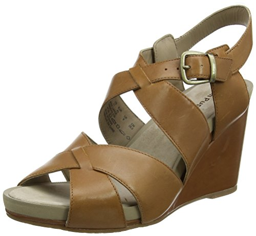 Hush Puppies Women's Fintan Montie Ankle Strap Sandals Brown (Tan) D0zYcDOxR