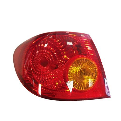 03-04 Toyota Corolla Taillight Taillamp Rear Brake Tail light Lamp (Outer Body Quarter Panel Mounted) Left Driver Side (2003-2004)