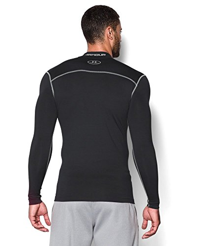 Under Armour Men's ColdGear Armour Compression Mock Long Sleeve Shirt, Black (001)/Steel, XXX-Large by Under Armour (Image #1)