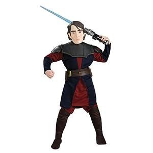 Child Clone Wars Anakin Skywalker Costume Size Medium 8-10 MISSING MASK
