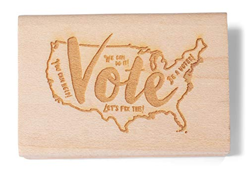 Vote with a map of The USA. Rubber Stamps for Your Postcards and Scrapbooking, Perfect for Writing to Your reps or get Out The Vote