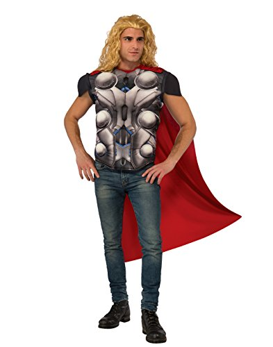 Thor Ultimate Costume (Rubie's Men's Avengers 2 Age of Ultron Thor Muscle Chest Top and Cape, Standard)