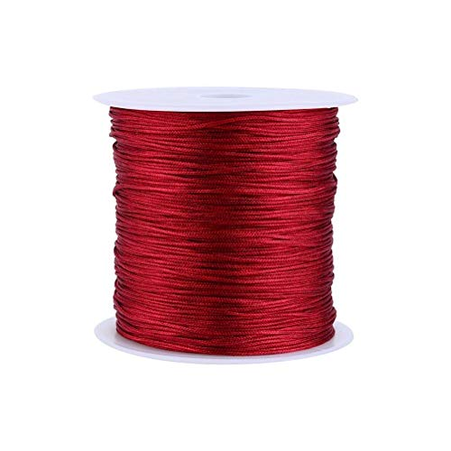 (Laliva 100M x 0.8mm Nylon Sewing Thread Embroidery Sewing Machine Fil Couture Thread for Leather Cross Stitch Sewing Floss Kit 20 Color - (Color: Wine red))