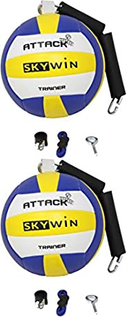 Skywin Volleyball Spike Trainer - 2 Pack Volleyball Training Equipment Improves Spiking, Serving, and Arm Swin