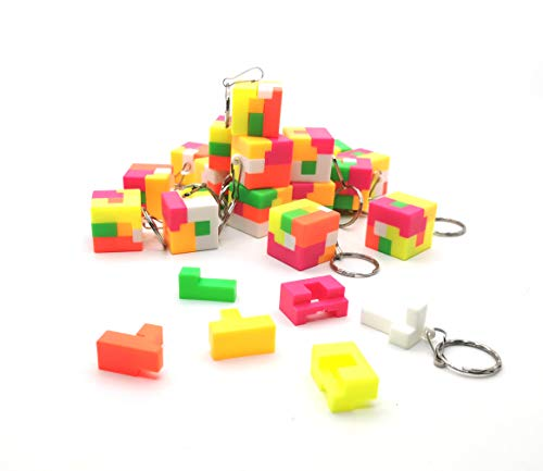 20 Pcs Mini Plastic Puzzle Toys Brain Teasers Puzzles Game Burr Puzzles Magic Cube Intellectual Removing Assembling Toy for Adults Children (Best Brain Games For Pc)