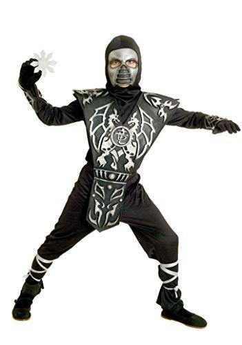 Boys Ice Dragon Ninja Kids Child Fancy Dress Party Halloween Costume, S (Paper Dragon Costume)