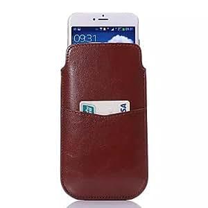 Teléfono Móvil Samsung - Carcasas de Cuerpo Completo - Color Sólido - para Samsung S4 I9500/S5 i9600 ( Negro/Blanco/Marrón/Rosado , Cuero PU ) , Brown