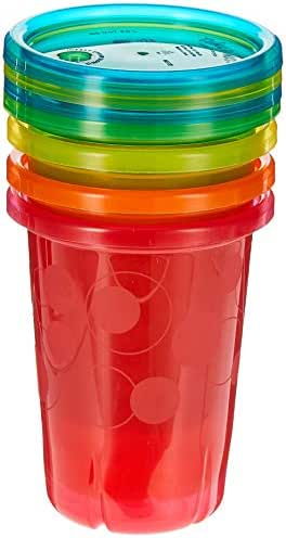 The First Years Take & Toss Spill Proof Straw Cups, 10 Ounce, Pack of 4