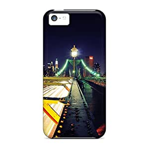 Premium Protection Road To New York City Case Cover For Iphone 5c- Retail Packaging