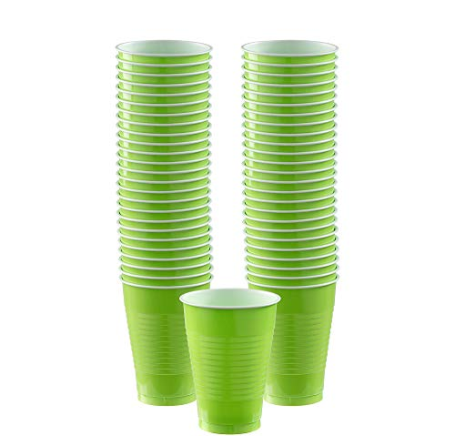 (Big Party Pack Kiwi Green Plastic Cups, 12 Oz., 50 Ct.)