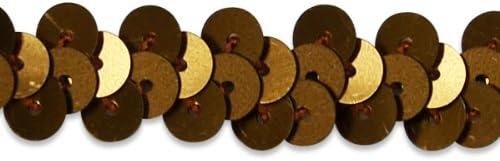 Linsoir Beads Spangle Flat Sequins Paillette Trim Spool String 6mm Sequins 10#55