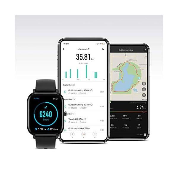 Amazfit GTS Smartwatch Homme Femme Montre Connectée avec 12 modes Sportifs, GPS Intégré, 1,65″, Montre de Sport, Podomètre, Moniteur de Fréquence Cardiaque