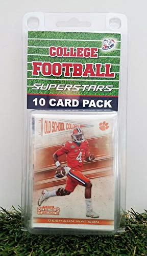 Clemson Tigers- (10) Card Pack College Football Different Tiger Superstars Starter Kit! Comes in Souvenir Case! Great Mix of Modern & Vintage Players for the Super Tigers fan! By 3bros