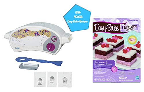 Easy Bake Ultimate Oven Gift Bundles for Boys and Girls, Little Chef Gifts, Birthday Gift Ideas for Kids, Holiday Presents (Oven + Red Velvet Strawberry Cake Mix) (Easy Bake Red Velvet Cake Mix Instructions)