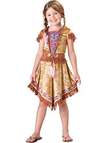 In Character Costumes, LLC Girls 7-16 Indian Maiden Dress Set, Tan, (Halloween Costumes For Girls Age 11-13)