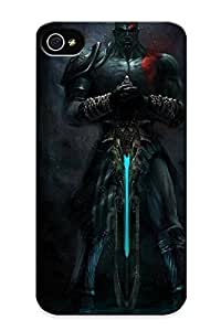 Juliacatala Fashion Protective Video Games God Of War Kratos Case Cover For Iphone 4/4s