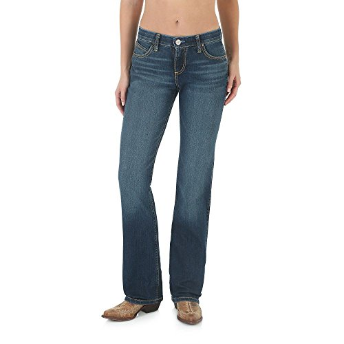 Wrangler Women's Plus Size Cool Vantage Q-Baby Ultimate Riding Jean, Dark Blue, (Q-baby Ultimate Riding Jeans)