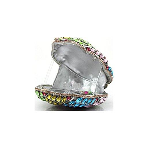 Señora Color Diamante Bolso De Tarde Bolso Bolso De Las Señoras Banquete Bolso De Cadena Bolso Color