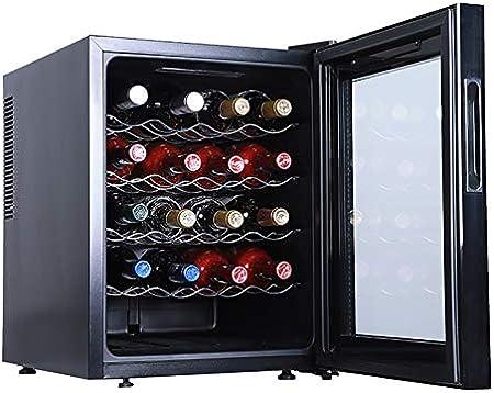 CLING Bodega de 20 Botellas Refrigerador Enfriador de Vino Independiente de Doble Zona Absorción silenciosa de Impactos Proteger de la luz Temperatura Constante Sin Niebla
