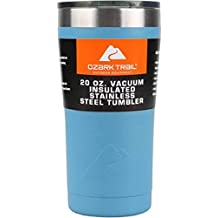 Ozark Trail 20-Ounce Double-Wall Vacuum-Sealed Powder Coated Blue Tumbler