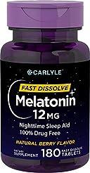 Carlyle Melatonin 12 mg Fast Dissolve 18...