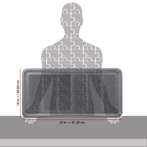 SafetyCare Heavy Duty Flexible Rubber Boot Tray Door Mat - 32 x 16 Inches - 2 Mats by SafetyCare (Image #2)