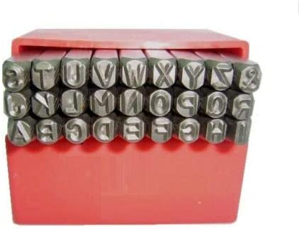 Juego de sellos de metal para perforar letras o n/úmeros del alfabeto Rocwing varios tama/ños