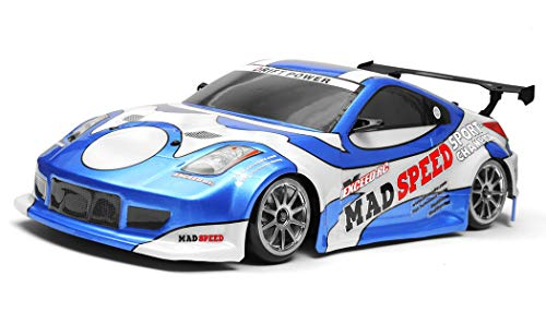Exceed RC 2.4Ghz MadSpeed Drift King Brushless Edition 1/10 Electric Ready to Run Drift Car (Blue)