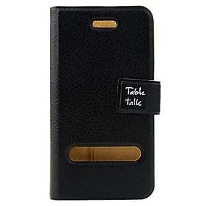 Conseguir Protección pu funda de cuero para el iPhone 4 con la película de protección (negro)