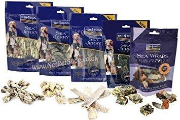 Fish4Dogs Dog Treats Multipack 500g (Sea Jerky Squares)