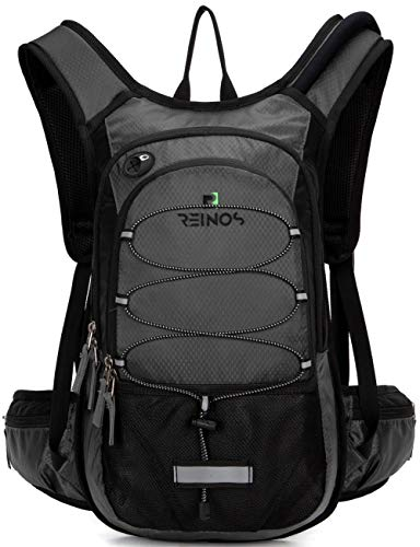 REINOS Hydration Backpack with 2L Bladder for Men Women, Daypack with Thermal Insulation Great for Hiking, Running, Cycling, Camping, Skiing, Outdoor Activities