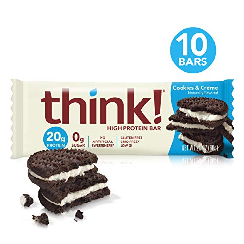 Think! (thinkThin) High Protein Bars - Cookies and Cr