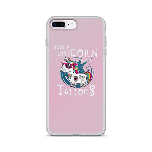 iPhone 7 Plus/8 Plus Pure Clear Case Cases Cover Just a Unicorn with Tattoos Cute Animal
