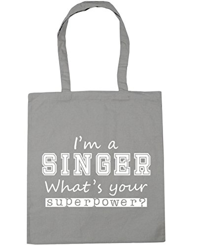 Bag Grey What's Shopping a x38cm Tote Gym Beach HippoWarehouse Superpower litres I'm Light Your 10 Singer 42cm T0qAavxw